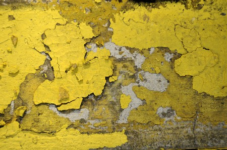 Worn and weathered crusted chipped paint on textured cement Stock Photo - 6975061