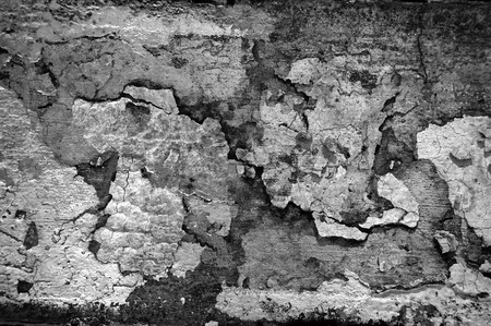 Worn and weathered crusted chipped paint on textured cement Stock Photo - 7036648