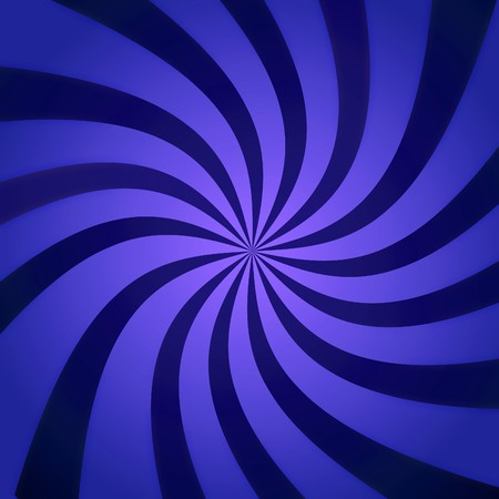 blue spiral: Funky abstract purple background illustration of twisty stripes with a radial gradient.