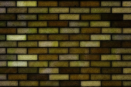 Clean dark yellow brick wall background texture. This makes a great background Stock Photo - 7064594