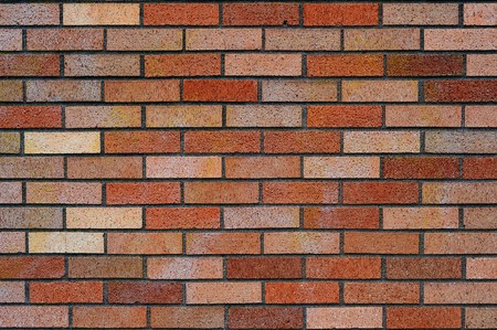 Clean red and tan brick wall background texture. Stock Photo - 7064714