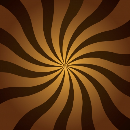 Brown twist of striped rays with a radial gradient to make a great background Stock Photo - 7064598