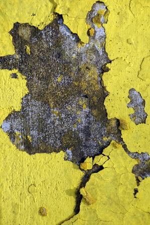 Worn and weathered crusted chipped paint on textured cement Stock Photo - 7111255