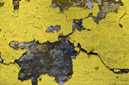 Worn and weathered crusted chipped paint on textured cement Stock Photo - 7216306