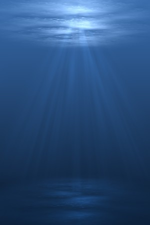 3D illustration background graphic of a blue underwater scene below the ocean sea. Stock Illustration - 7300857