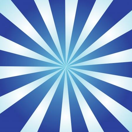 Blauwe en witte uitbarsting van striped stralen met een radiaal verloop.  Stockfoto - 7351045