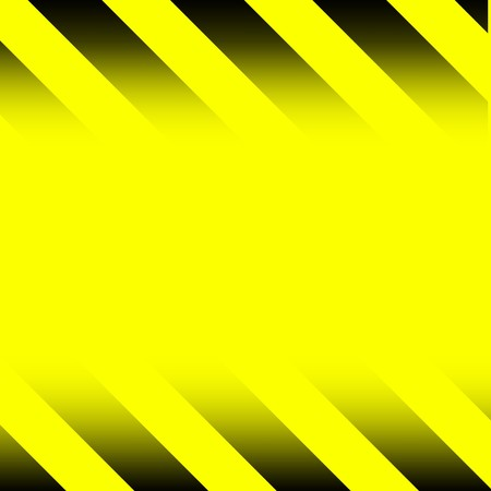 Yellow and blue Caution stripes fading into a yellow background with copyspace for your text photo