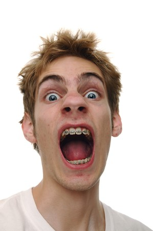 no fear: A shocking surprise to a young man screaming
