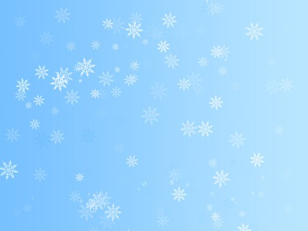 Illustration background graphic of snowflakes falling in Winter.