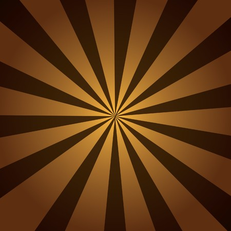 radiate: Brown burst of striped rays with a radial gradient. Stock Photo
