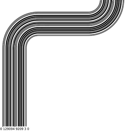 Abstract barcode graphic 2D design. Black and white illustration Stock Photo