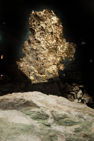 A very large gold nugget on display Stock Photo - 8087834