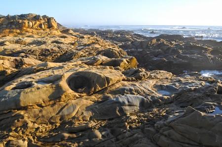 Rocky tide pools near the Oregon Coast ocean sea. photo