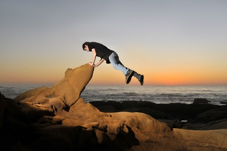 Free running or freerunning is a form of acrobatics where people, known as free runners, use urban and rural landscapes to perform movements and tricks through its structures. photo