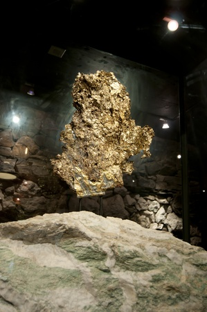 A very large gold nugget on display Stock Photo - 8482189