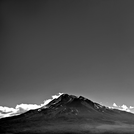 Mount Shasta with blank empty copyspace above. photo