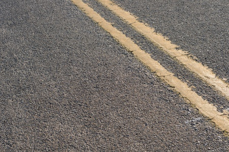 A closeup abstract view of a road street.