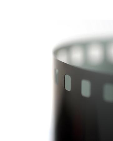 35mm filmstrip macro shot isolated on white background Stock Photo - 8573998