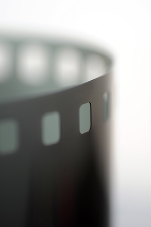 macro film: 35mm film macro shot isolated on white background