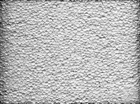 A closeup macro texture of white extruded polystyrene foam Stockfoto