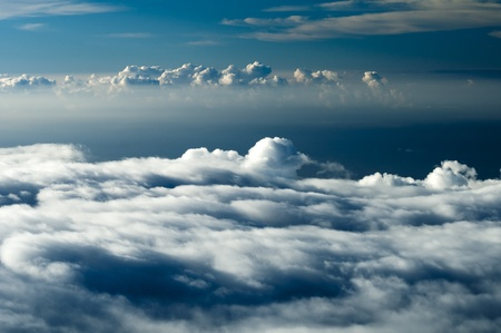 Dark heavenly clouds in the sky. This photograph was taken at 10,000 feet elevation and shows the clouds forming in a more dramatic way. photo