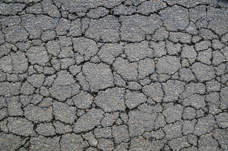 Macro closeup on concrete asphalt cracks on the road Reklamní fotografie