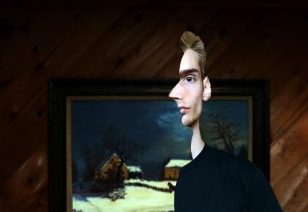 profile picture: Conceptual optical illusion of a male model.
