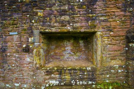 compartment: Colorful Multi colored Cobblestone Brick Walll texture with indented compartment Stock Photo