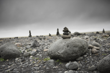Stones in balance on top each other
