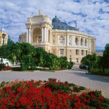 Opera Theatre building in Odessa, Ukraine Redactioneel