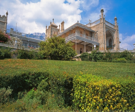 The Vorontsov Palace in Alupka, Crimea, Ukraine