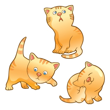smiling cat: Funny kittens Illustration