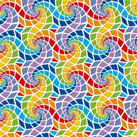 Mosaic seamless pattern Stock Photo