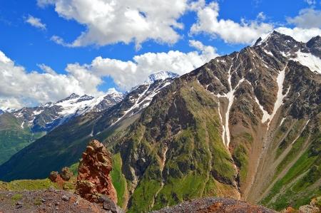 elbrus: Cheget mountain near Elbrus, Caucasus, Russia