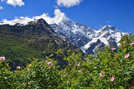 Dongus Orun mountain near Elbrus, Caucasus, Russia