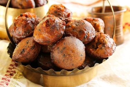 kerala: Unniyappam fried rice balls for vishu festival on Kerala Stock Photo