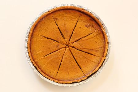 pumpkin pie: Baked Pumpkin Pie Dessert Top View