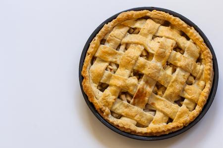 american dessert: Baked Apple Pie Dessert Top View