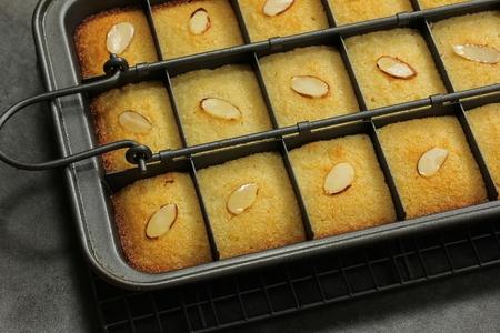 Basbousa Middle Eastern Semolina Sweet Cake