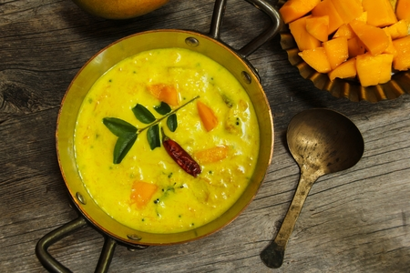 Mango Yogurt Curry South Indian food Stock Photo
