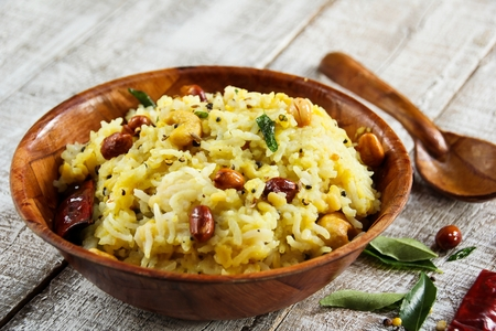 pongal: Pongal Lentil rice Indian food made with dal