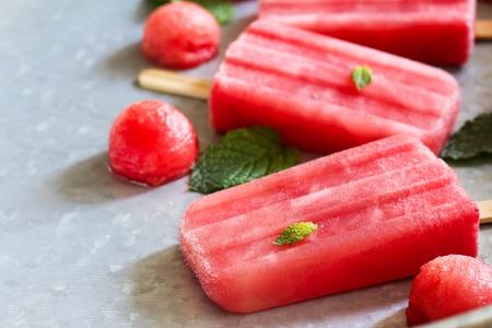 Homemade watermeloen ijs Stockfoto