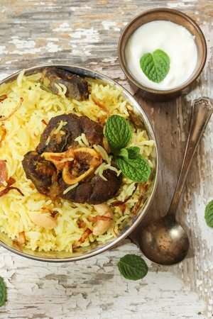 Lamb Biryani  Mutton Biryani - ramadan food  using Basmati rice  lamb and spices