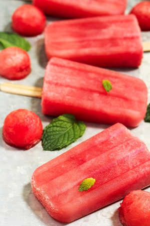 Homemade Watermelon ice creams
