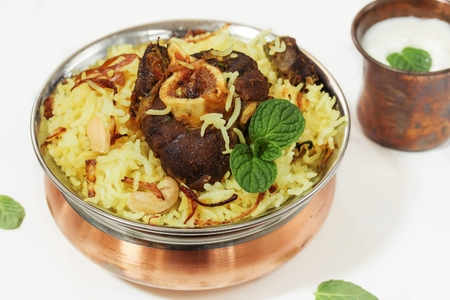 non: Lamb Biryani  Mutton Biryani - ramadan food  using Basmati rice  lamb and spices