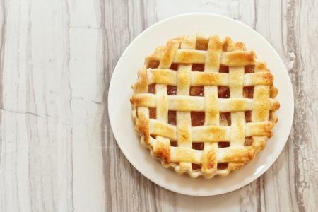 Overhead view of Homemade Apple Pie Tart