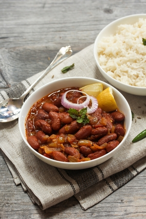 Rajma masala  Red Kidney beans curry served with Basmati rice