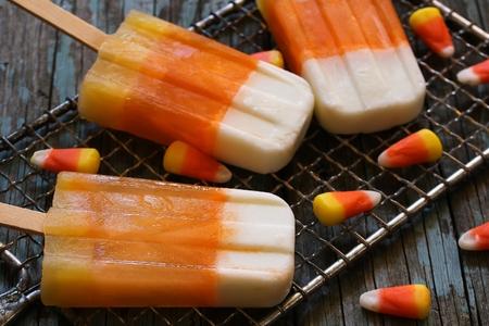 Halloween candy corn ice cream Stock fotó