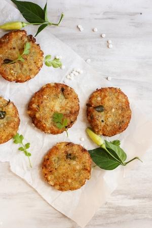 Sabudana Vada  Sago Tapioca pearl fritters - Indian Navratri fasting  food