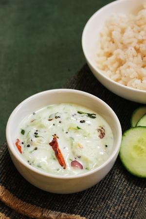 Cucumber Yogurt  Dip / Raita, selective focus Stock Photo - 87710116